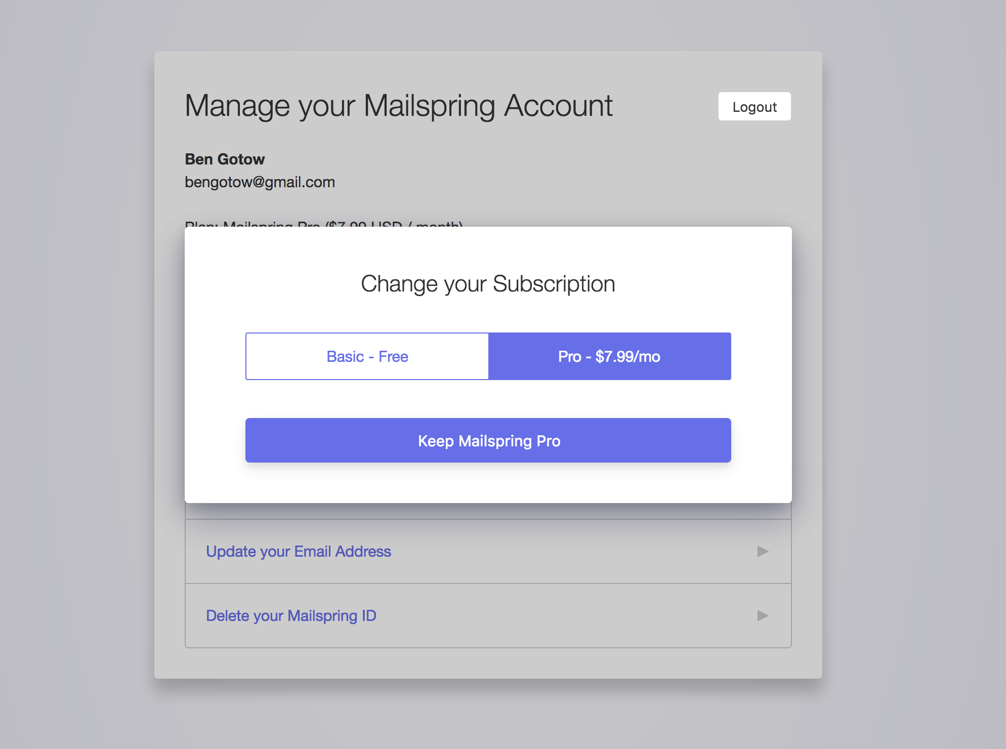 How do I cancel my Mailspring Pro subscription? – Mailspring Support