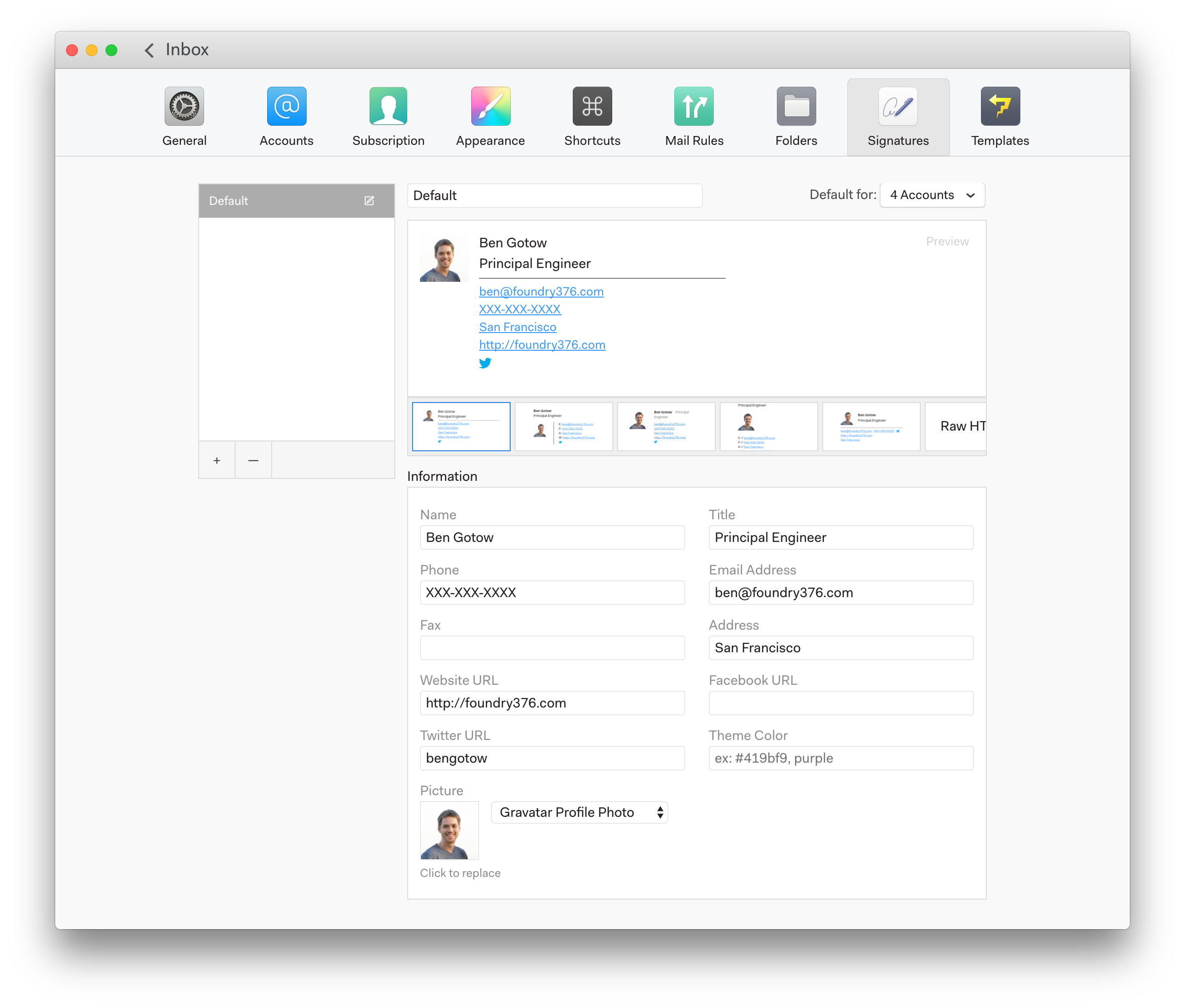 Create beautiful signatures – Mailspring Support
